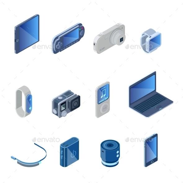 Digital Technology Gadgets Set - Media Technology
