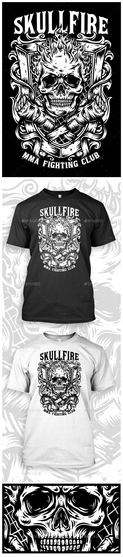 MMA SKULL FIGHTING T-SHIRT - Sports & Teams T-Shirts