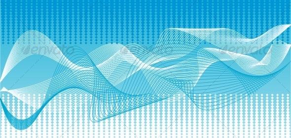 Vector blue waves background - Backgrounds Decorative