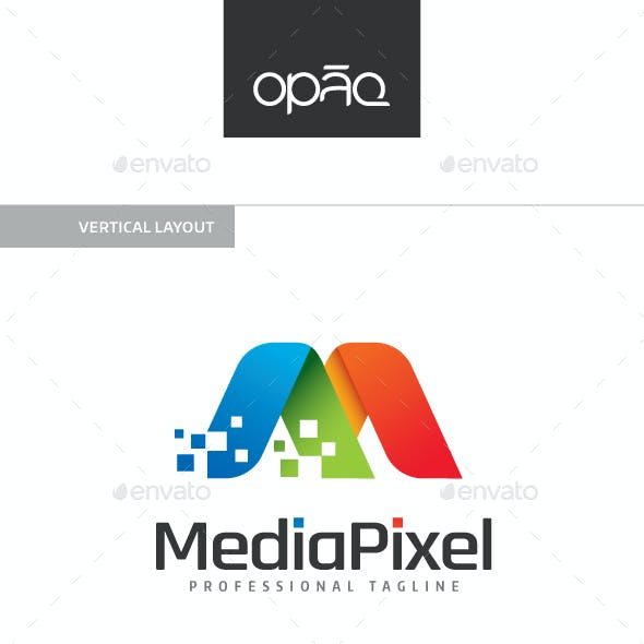 Media Pixel M Letter Logo