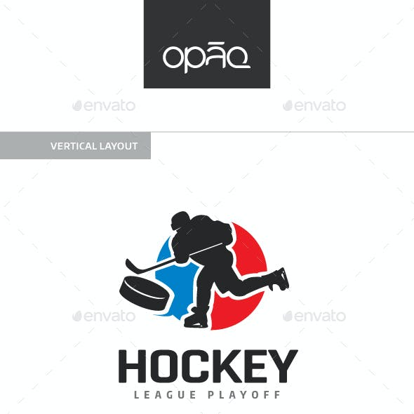 Hockey Player Shot Logo