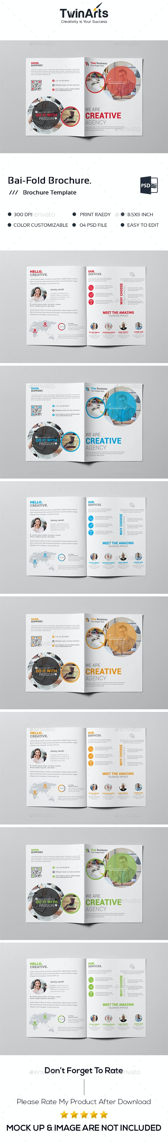 Bai-Fold Brochure. - Brochures Print Templates