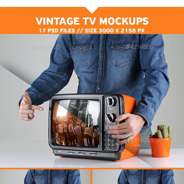 Vintage TV Mockups