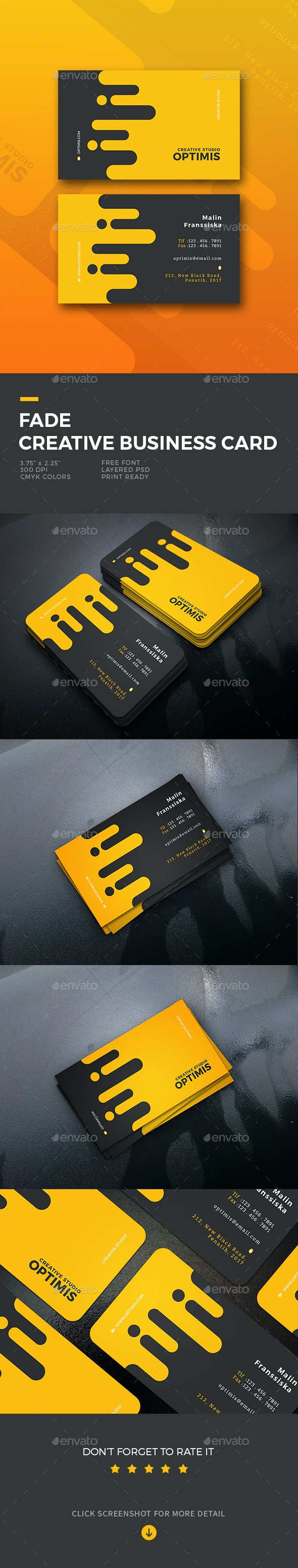Fade Creative Business Card - Business Cards Print Templates