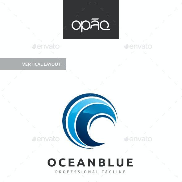 Blue Ocean Wave Logo