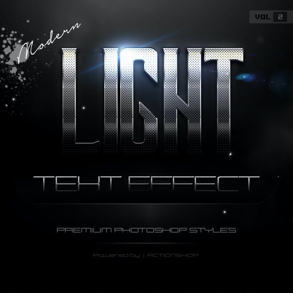 10 Modern Light Text Effects Vol.2