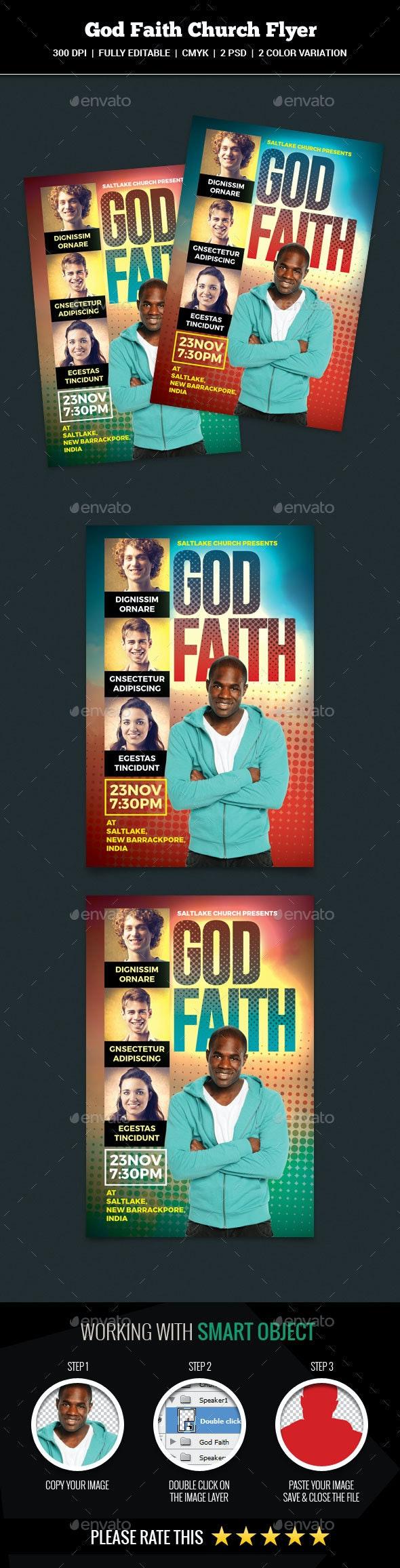 God Faith Church Flyer - Church Flyers