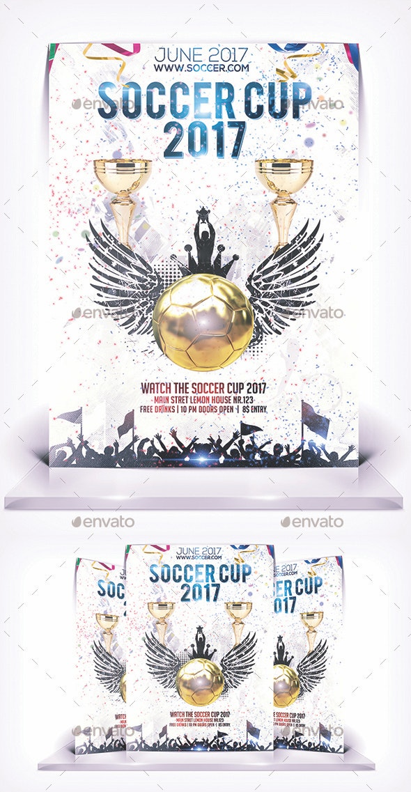 Soccer Cup Flyer - Flyers Print Templates