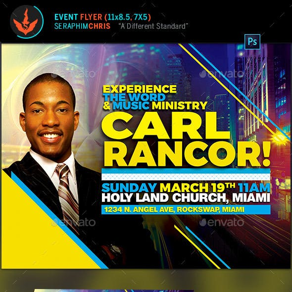 Music Ministry Church Flyer Template