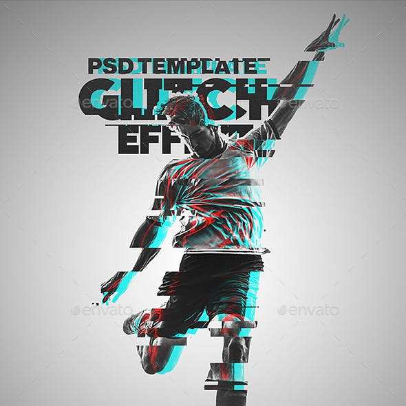 Glitch Effect Photoshop Template