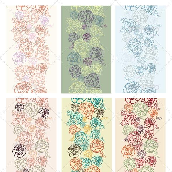 Seamless flower patterns.