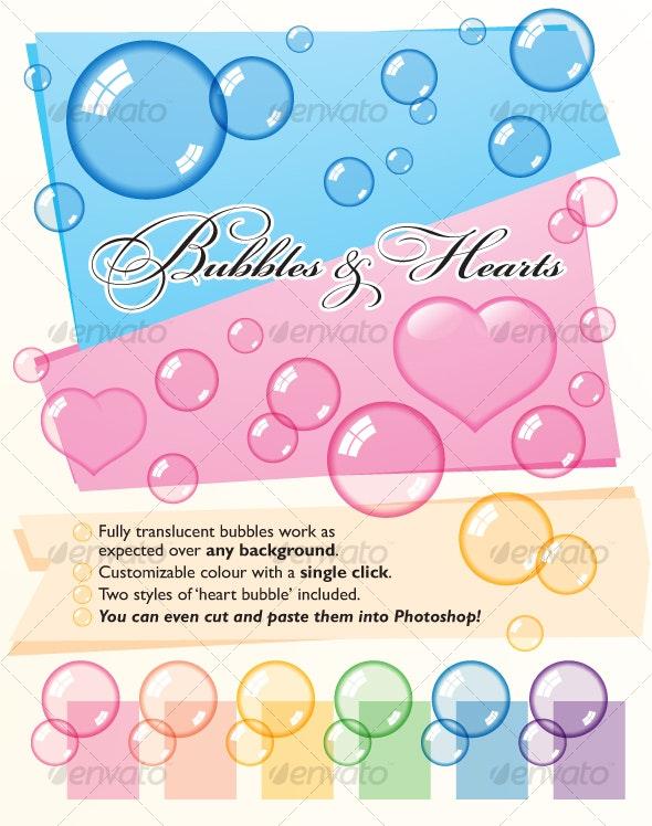 Bubbles & Hearts - Decorative Symbols Decorative