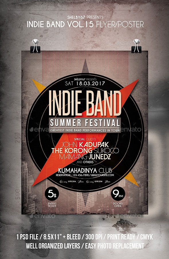 Indie Band Flyer / Poster Vol 15 - Events Flyers