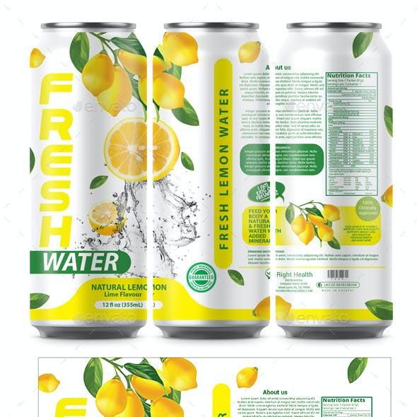 Lemon Water Label Template