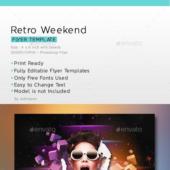 Retro Weekend Flyer