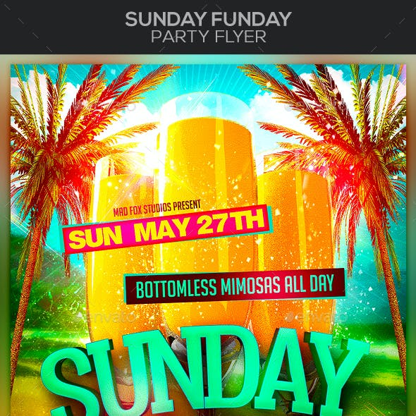 Sunday Funday Party Flyer
