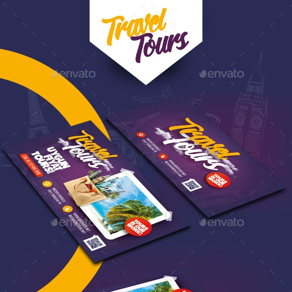Travel Tours Business Card Templates