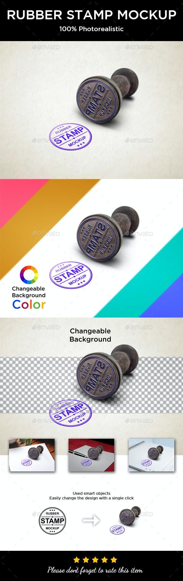 Rubber Stamp Mockup - Logo Product Mock-Ups