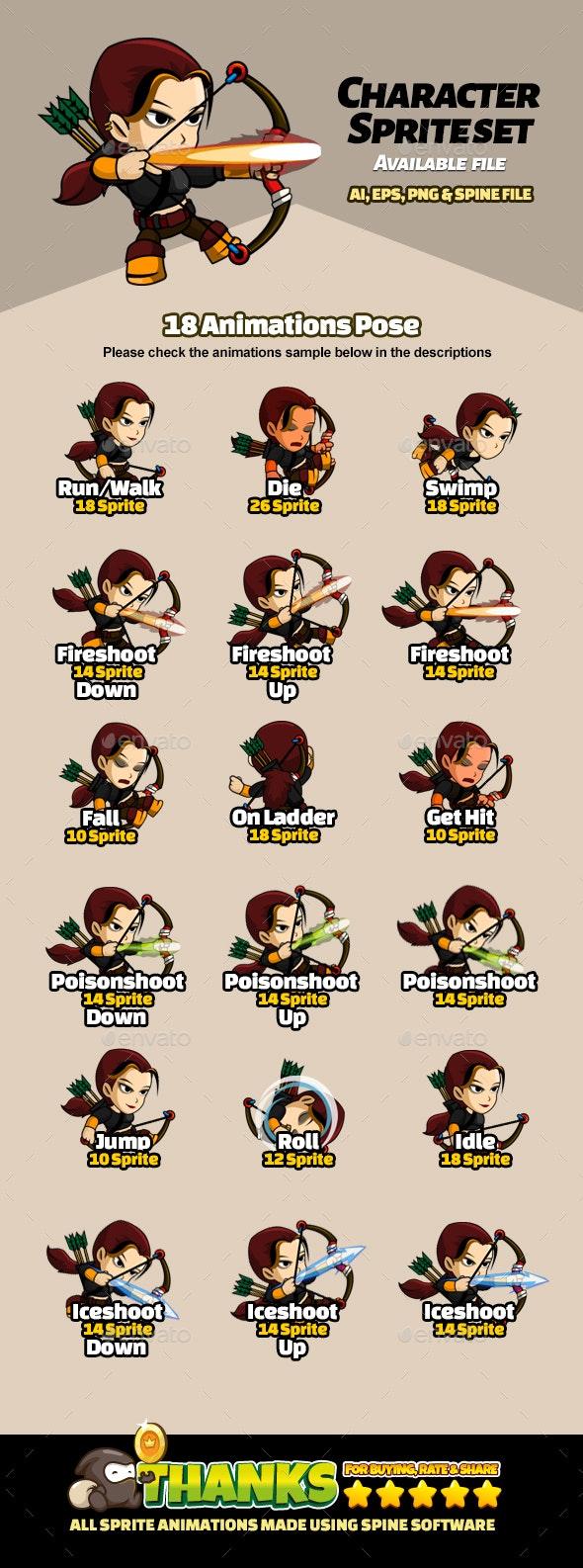 Character Set V13 - Sprites Game Assets