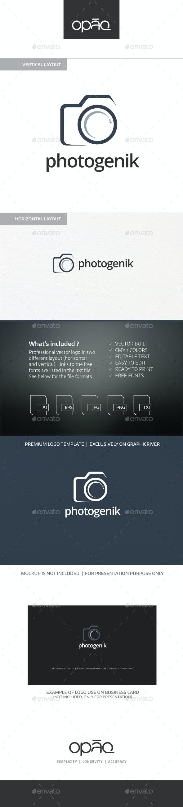 Photogenik Camera Logo - Objects Logo Templates