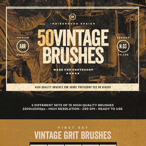 50 Vintage Brushes Set Vol. 3
