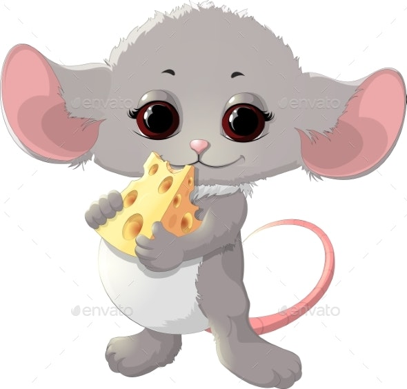 Mouse with Cheese - Animals Characters
