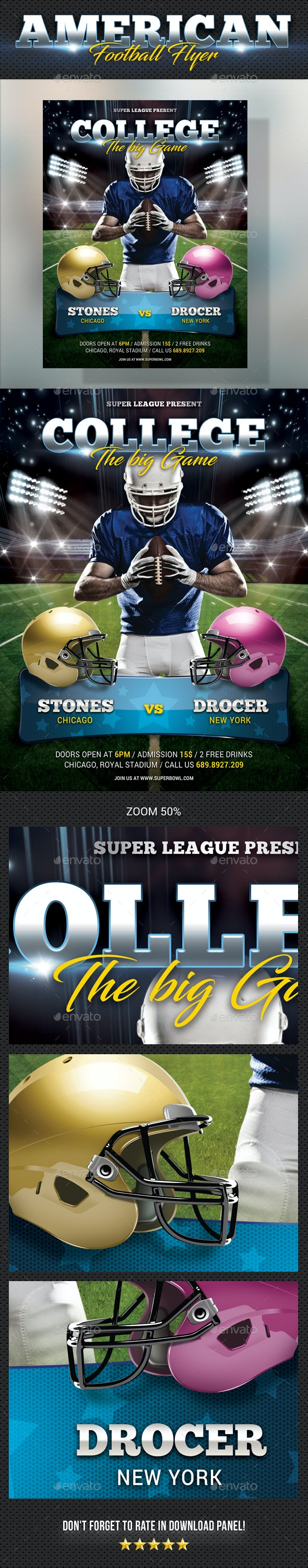 American Football Flyer - Sports Events