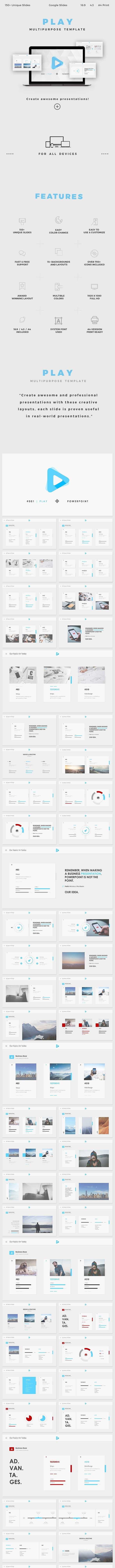 Play Google Slides - Google Slides Presentation Templates