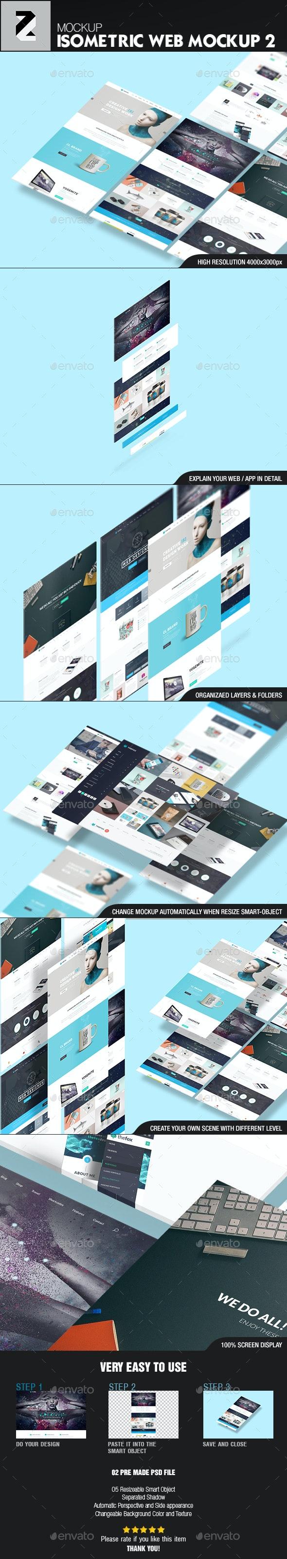 Isometric Web n App Mockup 2 - Website Displays