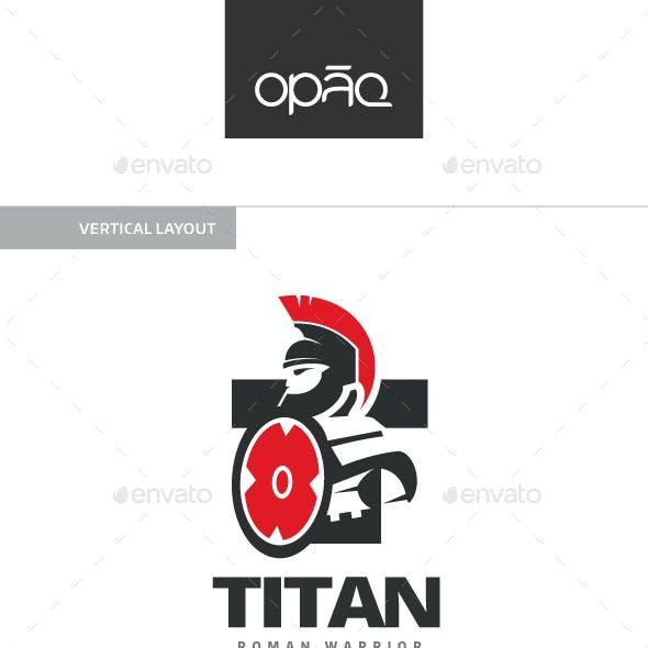Titan Gladiator T Letter Logo