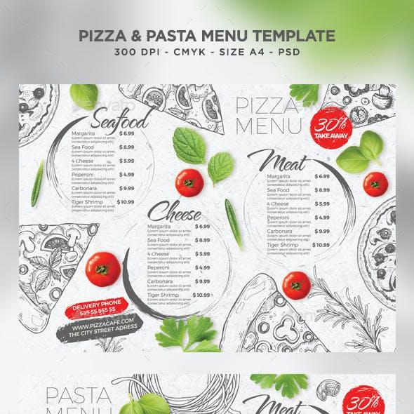 Pizza and Pasta Menu