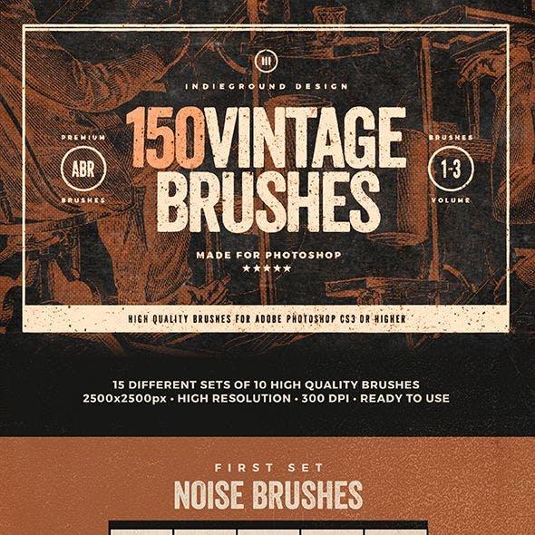 150 Vintage Brushes Bundle