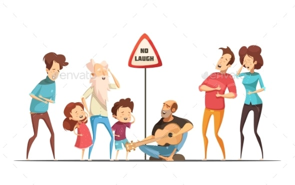 Families Friends Hilarious Moments Cartoon - People Characters