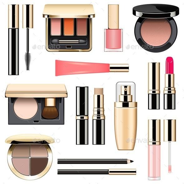 Vector Makeup Icons Set 3 - Commercial / Shopping Conceptual