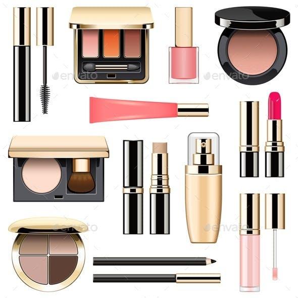 Vector Makeup Icons Set 3