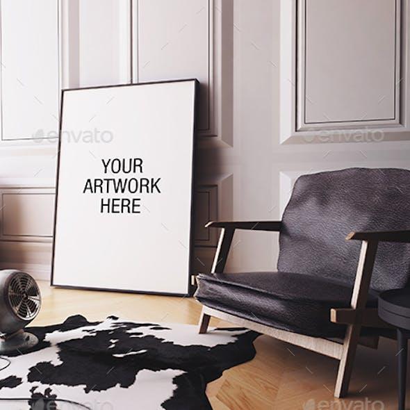 Poster Frame Mockup Interior