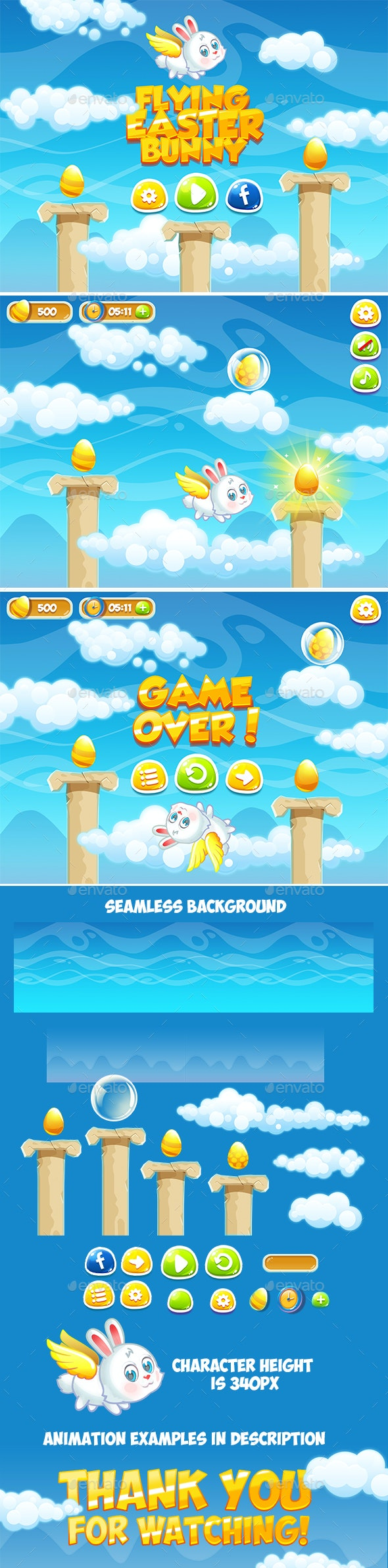 Easter Game Pack - Game Kits Game Assets