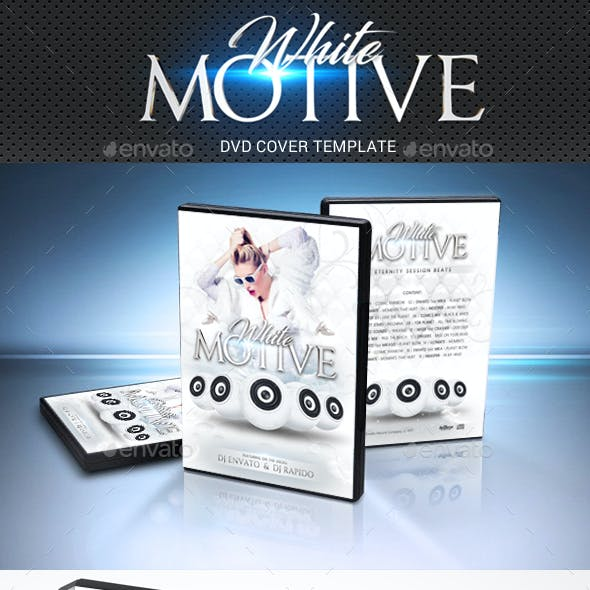 White Motive DVD Cover Template