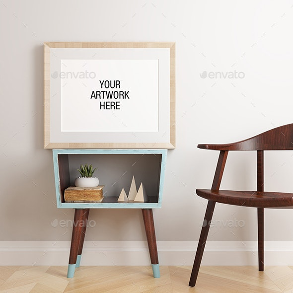 Poster Frame Mockup Mid Century - Posters Print