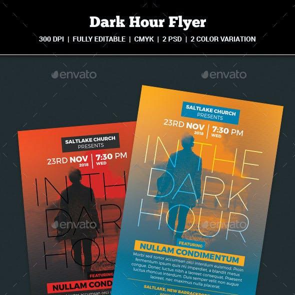 Dark Hour Church Flyer