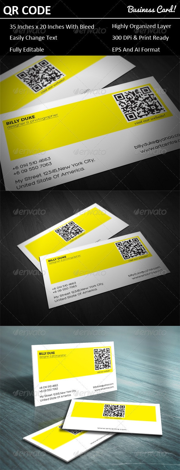 Qr Code Business Card - Creative Business Cards