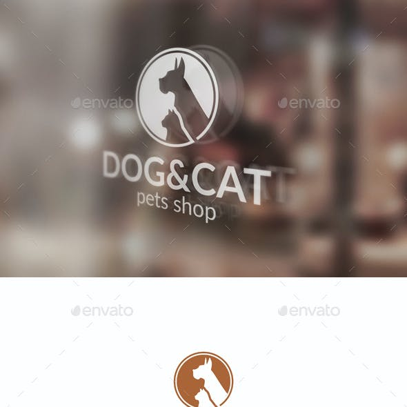 Pets Logo - Dog and Cat Logo Template