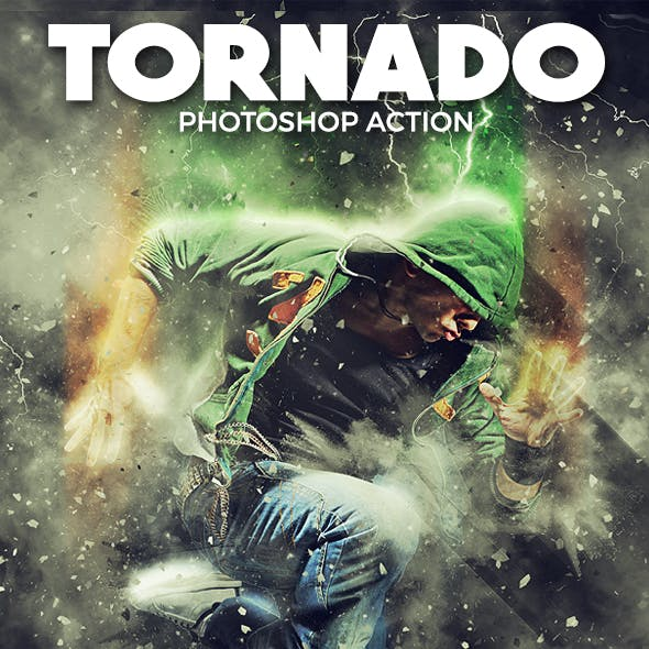 Tornado Photoshop Action