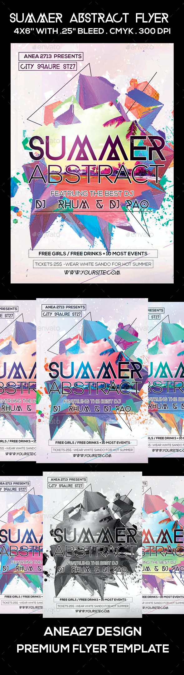 Summer Abstract Flyer - Clubs & Parties Events