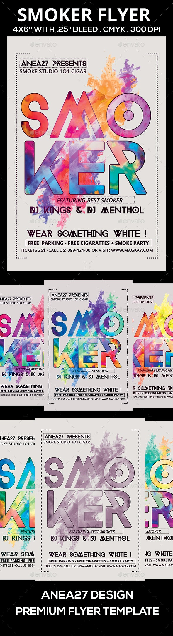 Smoker Flyer - Clubs & Parties Events