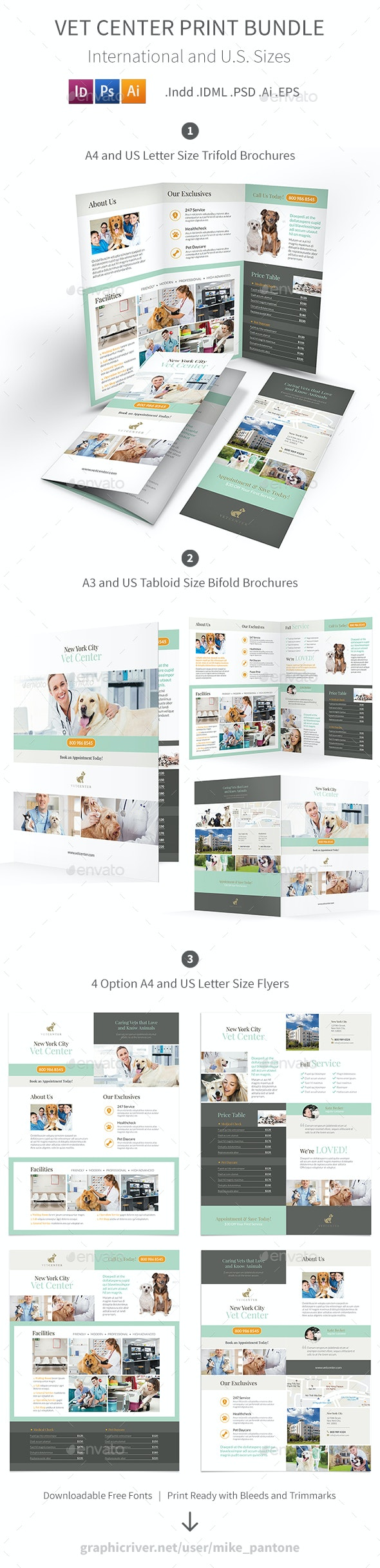 Vet Center Print Bundle - Informational Brochures