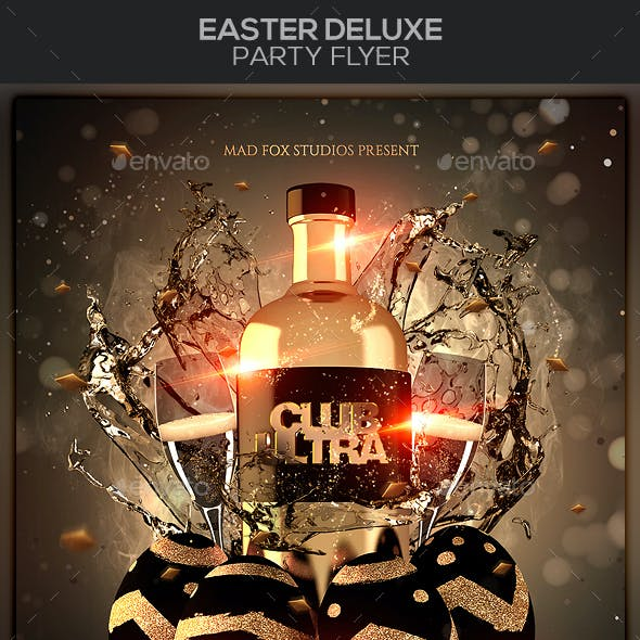 Easter Deluxe Party Flyer