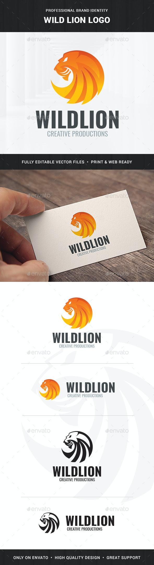 Wild Lion Logo Template - Animals Logo Templates