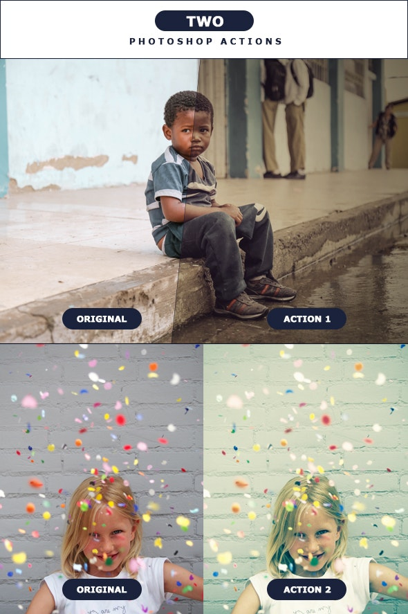 TWO - Photoshop Actions 2 - Photo Effects Actions