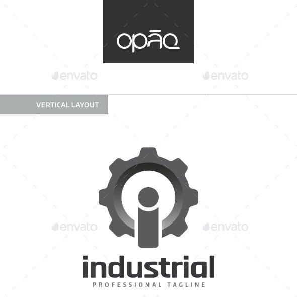 Industrial I Letter Gear Logo